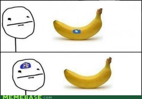 banana,poker face,Rage Comics