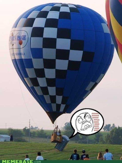 Hot Air Balloon portapotty rage Rage Comics toilet - 6490491648
