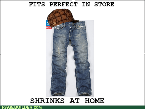 laundry jeans shrinkage