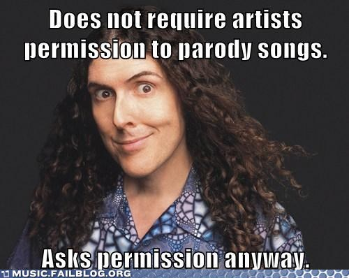 parodies parody permission weird al
