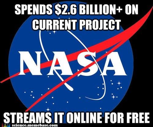 free,good guy nasa,money,science,streams