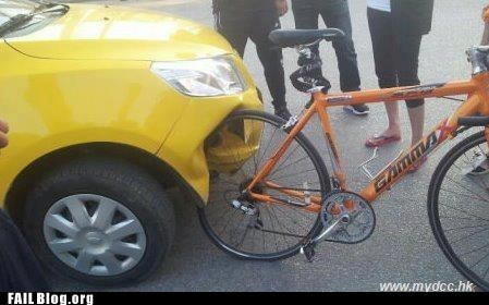 bicycle,car,dent