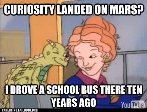 curiosity magic school bus Mars