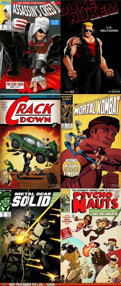 crackdown,Fan Art,metal gear solid,psychonauts,reimagining,video games comic books