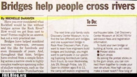 bridges newspaper you dont say
