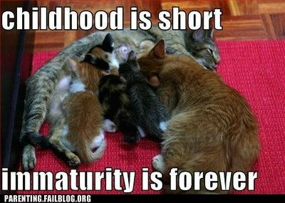 Cats,childhood,immaturity