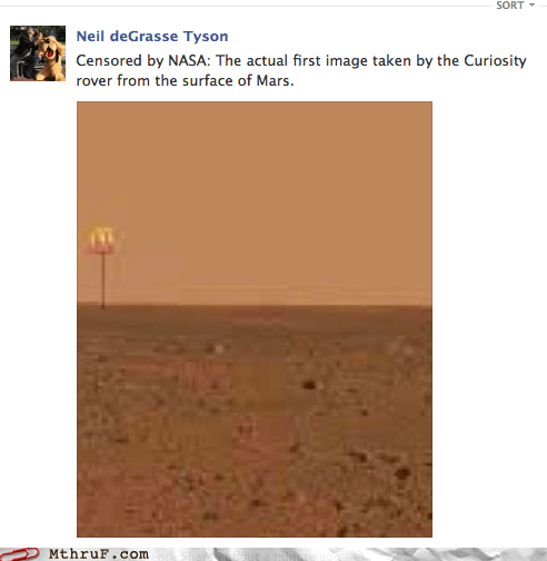 curiosity,Mars,mars rover,McDonald's,nasa,Neil deGrasse Tyson