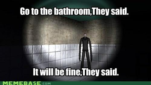 bathroom slender slenderman They Said video games