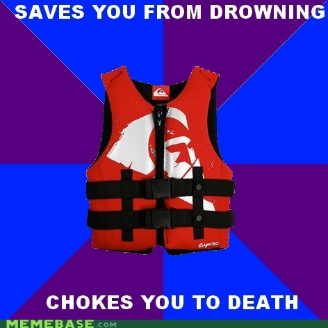 choking,drowning,life jacket,Memes