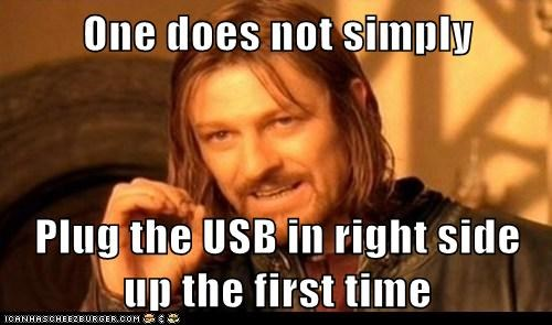 Boromir first time impossible Lord of the Rings one does not simply meme right sean bean USB - 6491203328