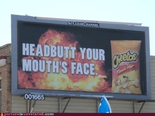 advertment cheetos headbutt wtf - 6491237376