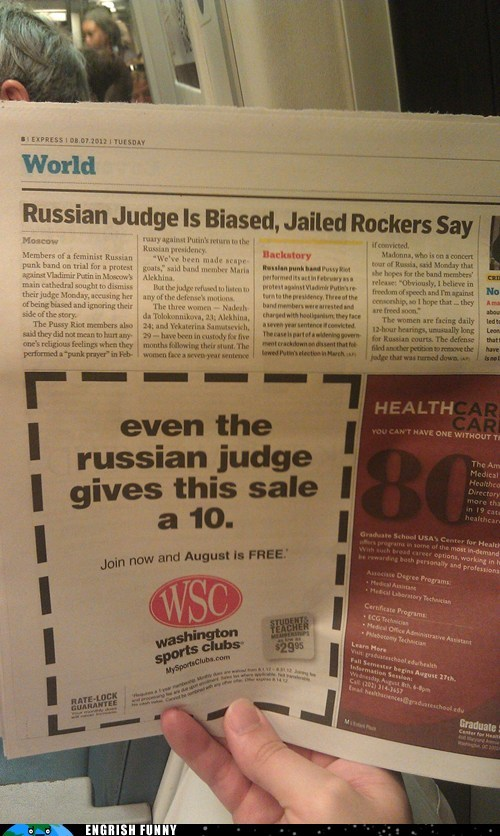 engrish funny g rated newspaper russia russian judge - 6491303424