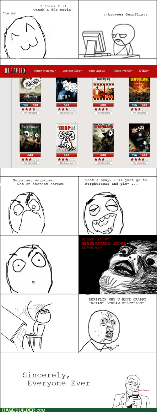 blockbuster,movies,netflix,Rage Comics