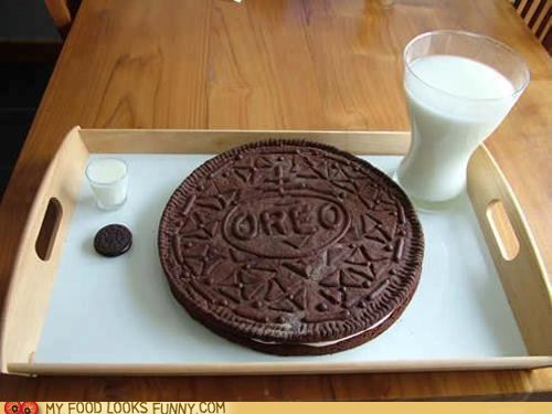 cookies,giant,milk,oreo,tray