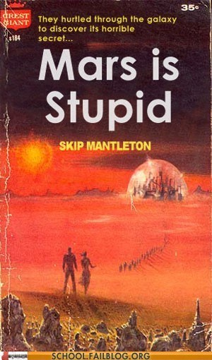 bargain books,books,Mars,mars is stupid