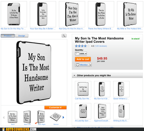 covers,iPad covers,ipads,most handsome writer