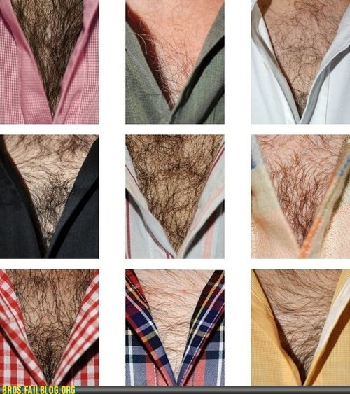chest hair hairy v neck - 6491418624