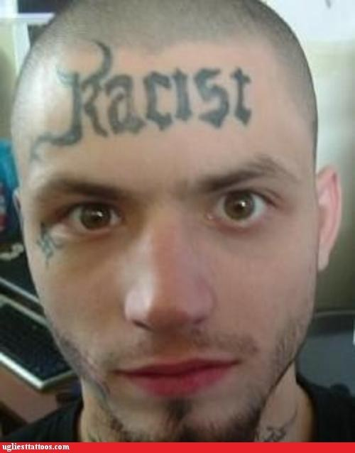 forehead tattoos,racist