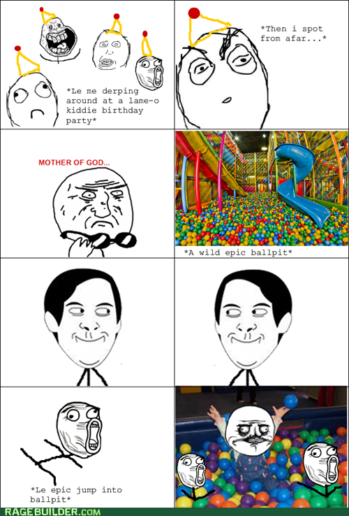 ball pit,me gusta,mother of god,Rage Comics,spiderpman
