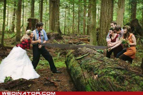 Forest,funny wedding photos,lumber,lumberjack,wood