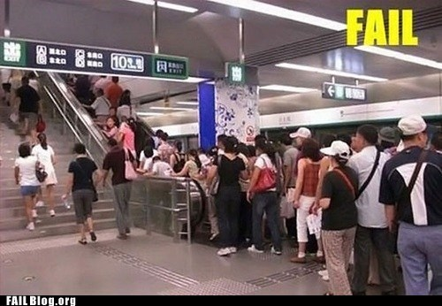 escalator line stairs