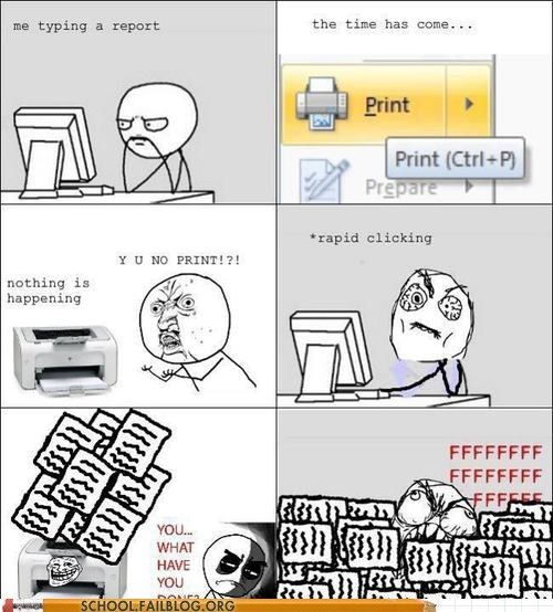 copies printer rage Rage Comics too many