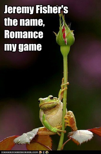 Jeremy Fisher's the name, Romance my game