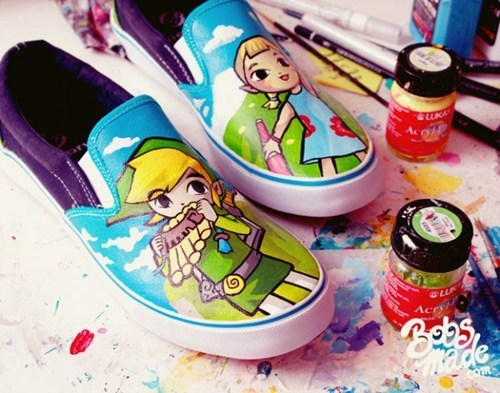 acessories Fan Art legend of zelda shoes video games wind waker - 6491561984