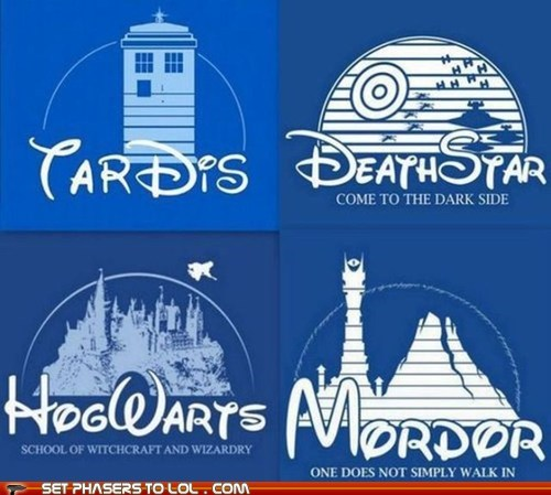 best of the week castle Death Star disney doctor who Harry Potter Hogwarts Lord of The Ring Lord of the Rings mordor one does not simply opening school star wars tardis