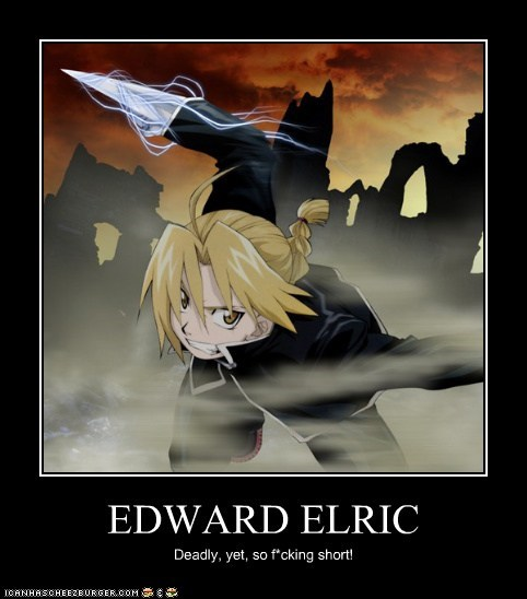 EDWARD ELRIC Deadly, yet, so f*cking short!