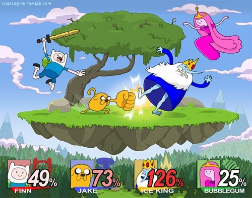 adventure time cartoons crossover Fan Art fandom super smash bros video games - 6491749632