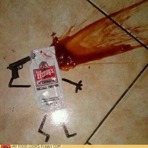 gun,ketcup,packet,suicide
