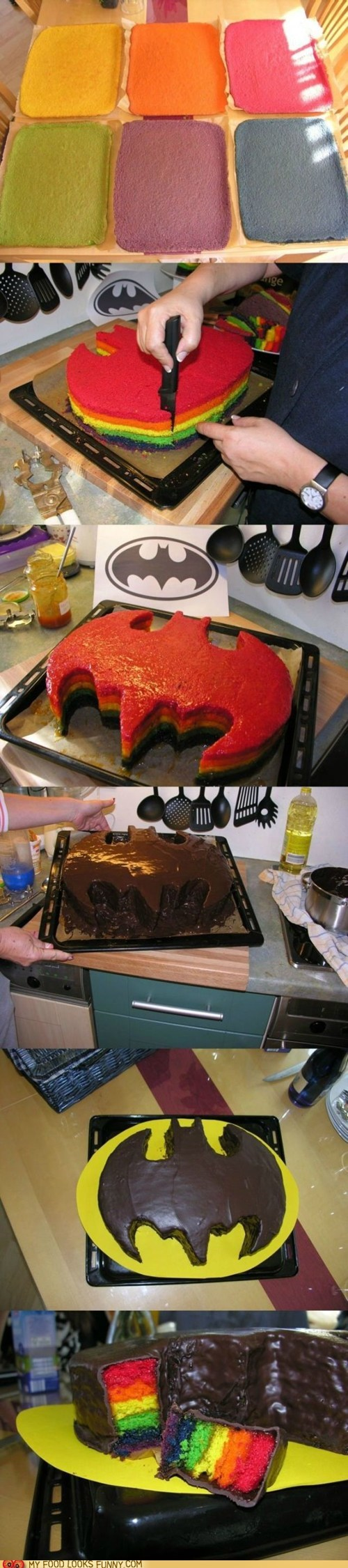 batman best of the week cake chocolate rainbow - 6491863040