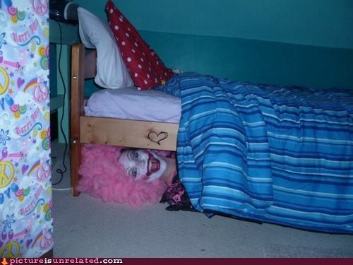 best of week,creepy clowns,under the bed,waiting,wtf