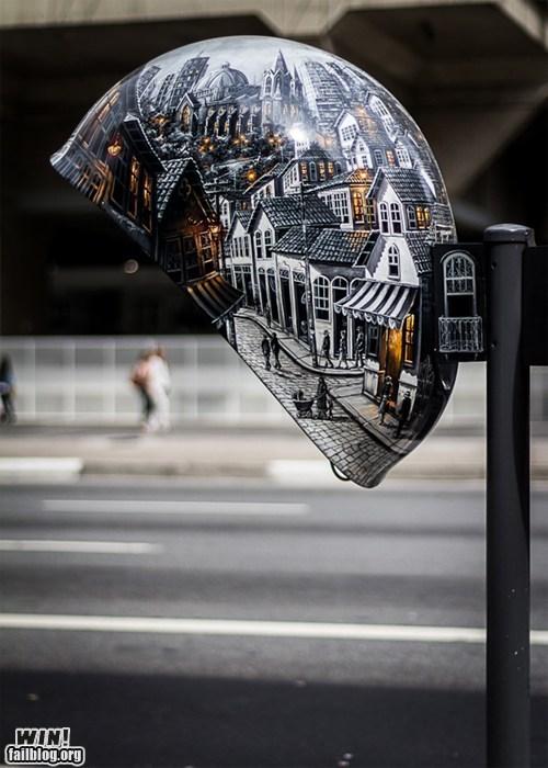 design graffiti phone booth Street Art - 6491940096