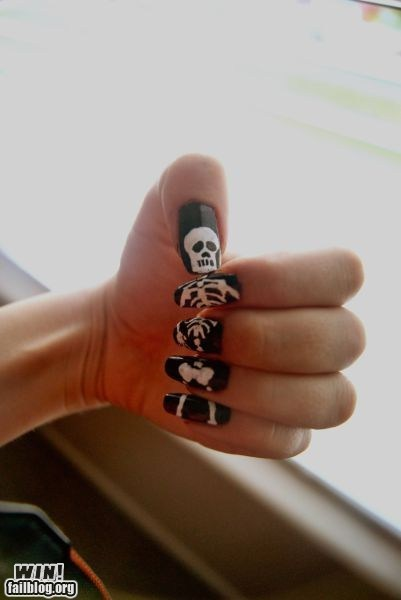design g rated nail art nails skeleton win