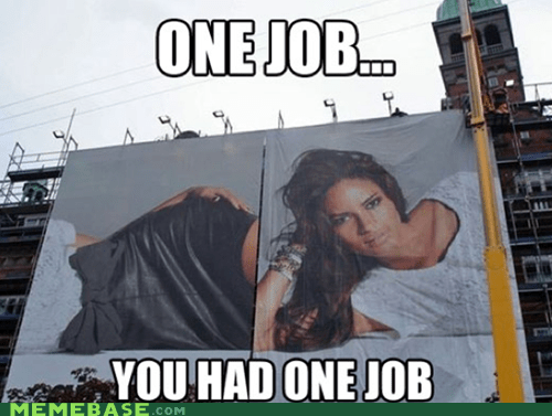 Ad,one job,poster