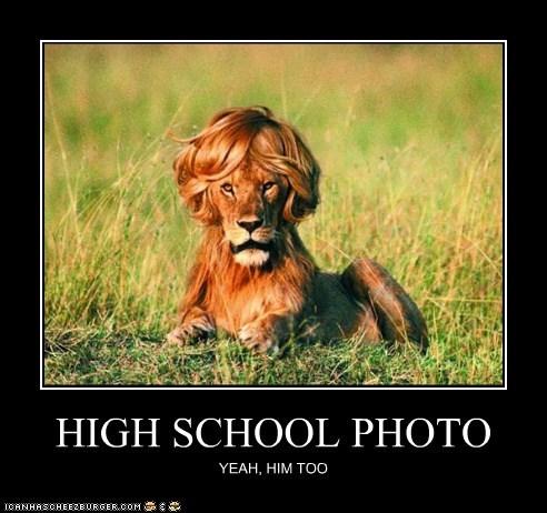 everyone hair high school lion Photo - 6492057600