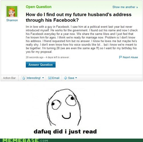 facebook stalking yahoo answers - 6492295424