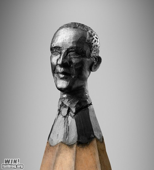 art barack obama carving design pencil potus - 6492353280