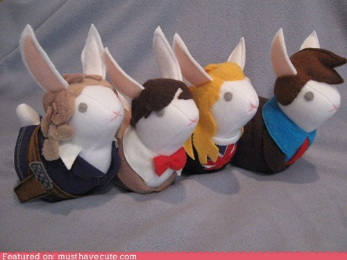 bunnies,doctr who,felt,Plush,sci fi