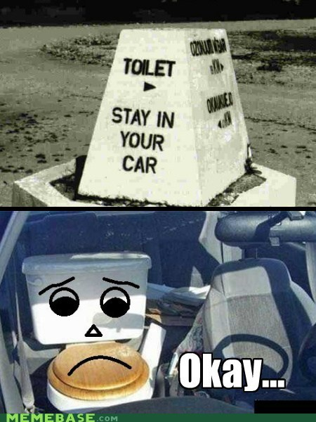 car,Okay,toilet