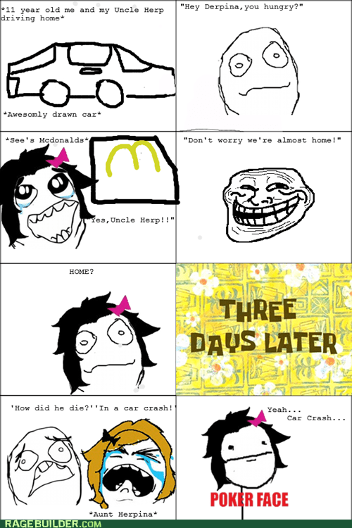 home McDonald's poker face Rage Comics - 6493089024