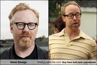 Adam Savage Totally Looks Like Guy form ball park commercial