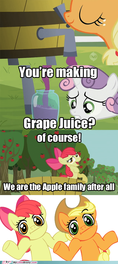 Apple Family comic comics grape juice