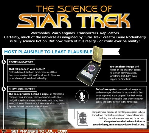 cell phones communicators enterprise infographic real life science Star Trek technology - 6493989888