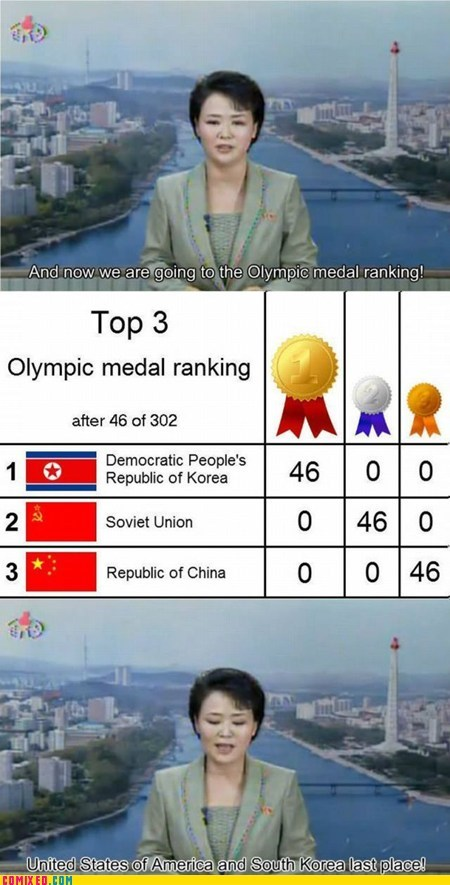 best of week China medals news North Korea olympics russia the internets - 6494042624