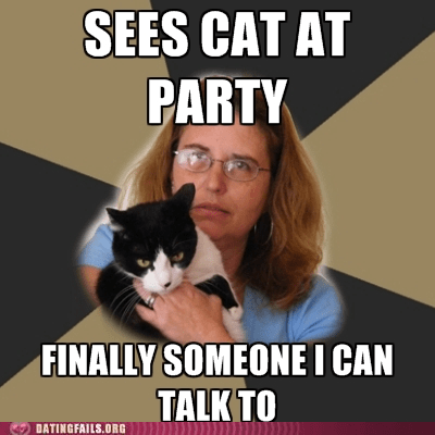 best of the week,cat at party,cat people,dating fails,g rated,lonely