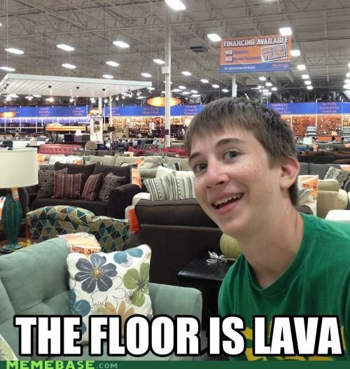 couches floor is lava ikea Memes this kid - 6494072320