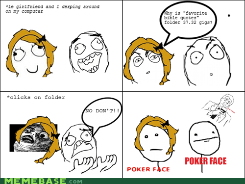 poker face,pr0ntimes,Rage Comics,raisin face